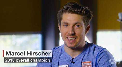 Gesamtsieger Marcel Hirscher im Interview - Foto: CNN International Alpine Edge