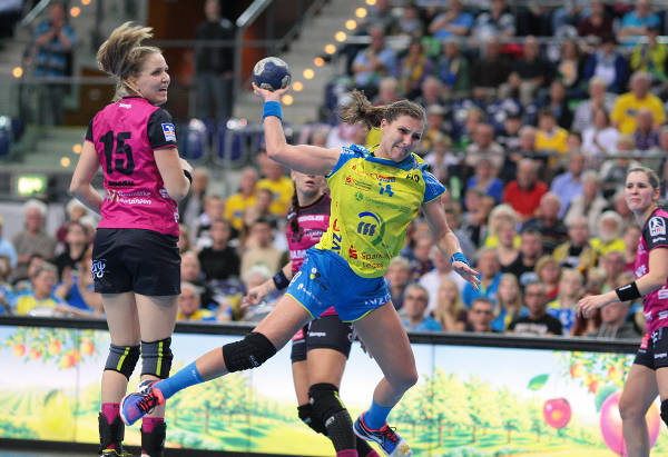 Handball HC Leipzig: Karolina Kudlacz-Gloc im Metzingen-Spiel - Foto: Sebastian Brauner