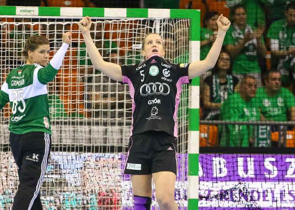 Győri Audi ETO KC mit Kantersieg gegen Erd im Halbfinale - Kari Grimsbö und Heidi Löke - Foto: Anikó Kovács und Tamás Csonka (Győri Audi ETO KC)