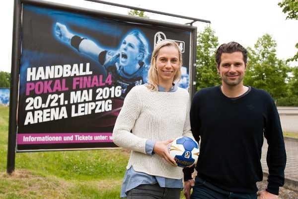 """DHB-Pokal Final4: HC Leipzig-Coach Rentsch: """"Rolle als Außenseiter"""" - Katja Kramarczyk und Norman Rentsch - Foto: Sebastian Brauner"""