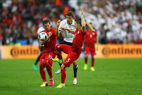 Thomas Müller – Fussball EM 2016: Aktion während der UEFA EURO 2016 Gruppe C - Spiel zwischen Deutschland und Polen im Stade de France am 16. Juni 2016 in Paris, Frankreich. Foto: Paul Gilham / Getty Images