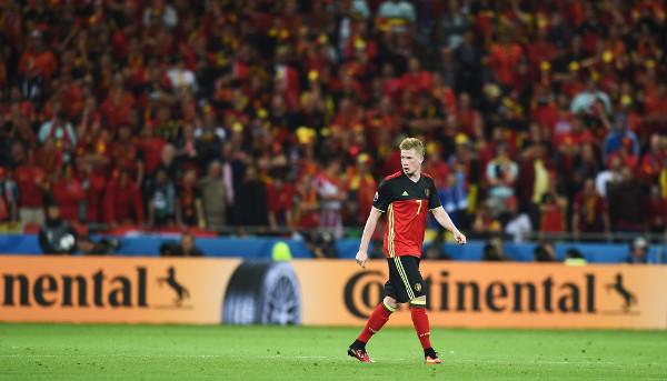 Kevin de Bruyne – Fussball EM 2016: Aktion während der UEFA EURO 2016 Gruppe E - Spiel zwischen Belgien und Italien am 13. Juni 2016 in Lyon, Frankreich. Foto: Claudio Villa / Getty Images
