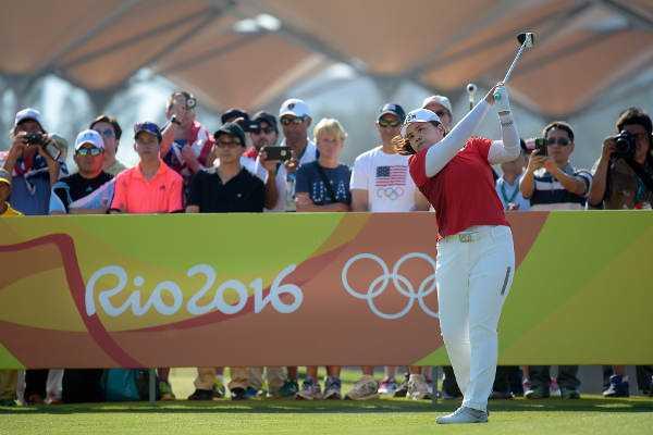 Olympia Rio 2016 Golf: Die Führende Inbee Park - Foto: IGF Golf