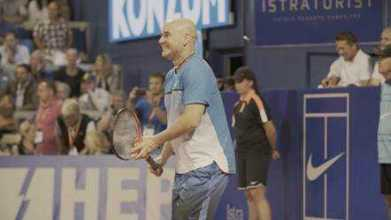 "Andre Agassi - Foto: CNN International ""Open Court"""