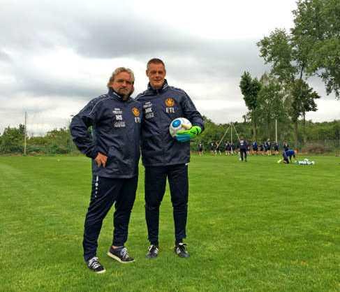 Maik Kischko (rechts) und Heiko Scholz (2016) - 1. FC Lok Leipzig - Foto: 1. FC Lok Leipzig