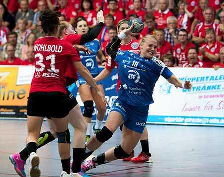 Handball Bundesliga, Supercup, Thüringer HC vs. HC Leipzig am 04.09.2016 in Nordhausen - Hildigunnur Einarsdottir (10) - Foto: Sebastian Brauner