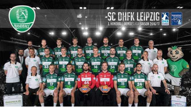 SC DHfK Leipzig - Mannschaftsfoto 2016/2017 - Foto: SC DHfK Leipzig
