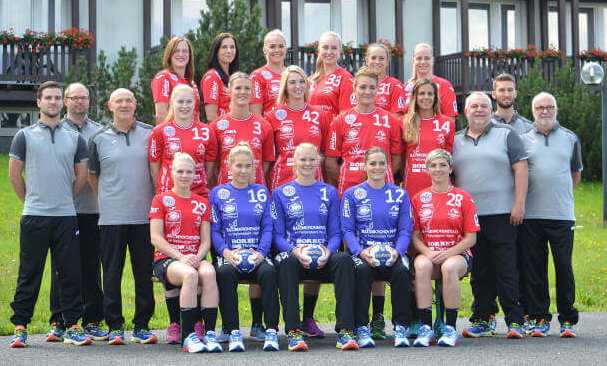 Handball Thüringer HC - Mannschaftsfoto 2016/2017 - Foto: Thüringer HC