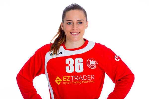 """Dinah Eckerle - Handball EM 2016: Deutschland mit zweitem Test-Remis gegen Schweden. Dinah Eckerle """"Matchplayer"""" - Foto: Sascha Klahn/DHB"""