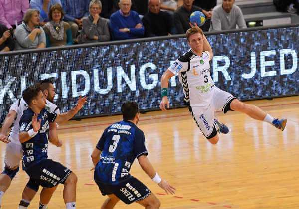 Franz Semper (SC DHfK Leipzig) beim Sprungwurf - Foto: Rainer Justen