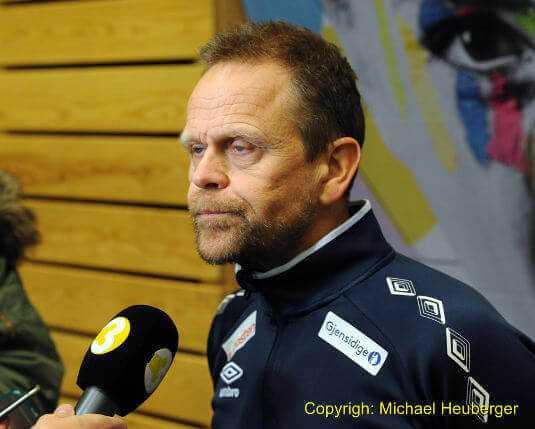 Handball EM 2016: Coach Thorir Hergeirsson (Norwegen) vor dem Finale - Foto: Michael Heuberger