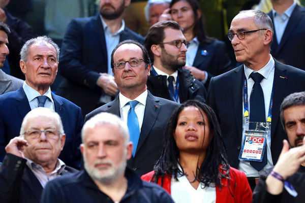 Handball WM 2017: Präsident Francois Hollande und Didier Dinart zum Frankreich-Sieg 3