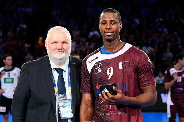 Rafael Capote (Katar) - Handball WM 2017 Achtelfinale: Deutschland an Katar mit schwächerem Turnier-Match gescheitert - Foto: France Handball