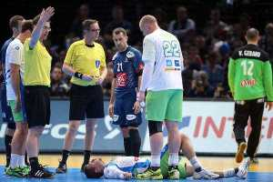 Lars Geipel und Markus Helbig - Handball WM 2017 Halbfinale: Frankreich vs. Slowenien - Foto: France Handball