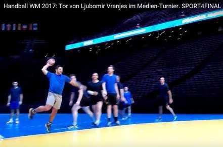 Handball WM 2017 Frankreich: Tor von Ljubomir Vranjes im Medien-Turnier - Foto: SPORT4FINAL