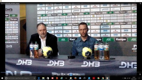 Bundestrainer Dagur Sigurdsson und DHB-Präsident Andreas Michelmann - Foto: SPORT4FINAL