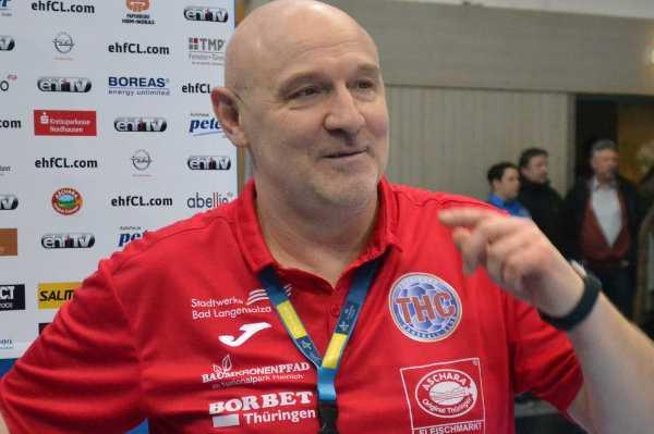 Herbert Müller - Thüringer HC in Handball Champions League bei Vardar Skopje - Foto: Hans-Joachim Steinbach