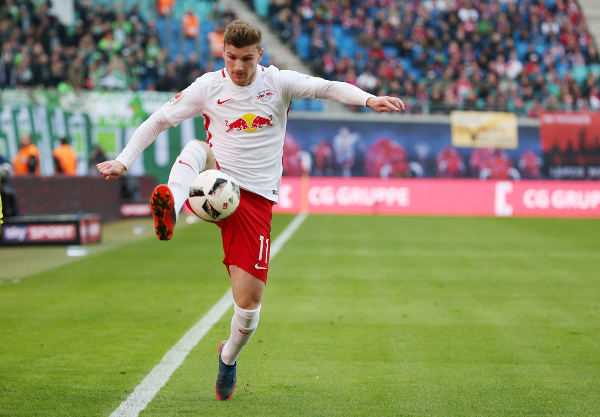 Deutsche Bundesliga, RasenBallsport Leipzig vs. VfL Wolfsburg - Timo Werner (RB Leipzig) - Foto: GEPA pictures/Roger Petzsche