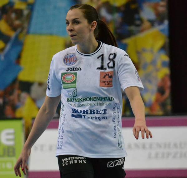 """Iveta Luzumova vom Thüringer HC: """"HC Leipzig hat gut gespielt"""" - Foto: Hans-Joachim Steinbach / Thüringer HC"""