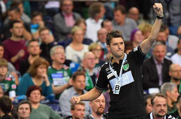 "Christian Prokop. SC DHfK Leipzig vs. Coburg. Christian Prokop ""Franz Semper hat hervorragend gespielt"" - Foto: Rainer Justen"