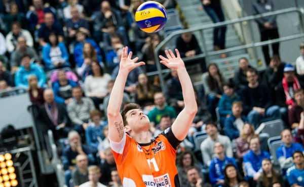 BR Volleys: Zuspieler Tsimafei Zhukouski hinterließ gegen Moskau einen starken Eindruck - Foto: Nils Wüchner, nils-wuechner.de
