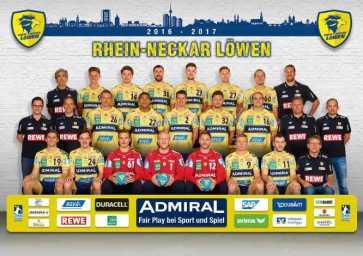 Rhein-Neckar Löwen: Mannschaftsbild 2016/2017 - Foto: Rhein-Neckar Löwen