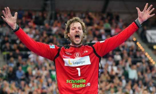 Jens Vortmann - SC DHfK Leipzig mit mentalem Crunchtime-Krimi-Sieg gegen VfL Gummersbach. Foto: Rainer Justen