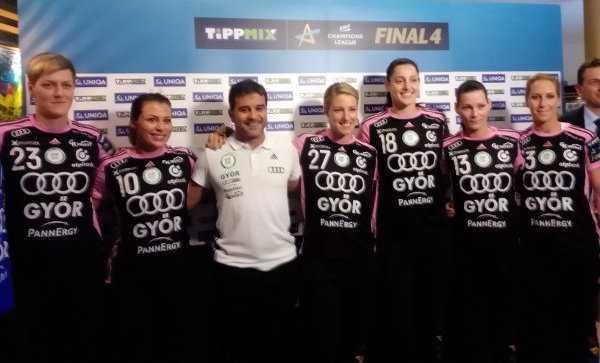 Sieger Györi Audi ETO KC beim Media Call - Handball EHF Final4 Budapest 2017: Frauen-Handball qualitativ gleichwertig mit Männern - Foto: SPORT4FINAL