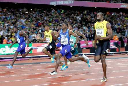 Leichtathletik WM 2017 London - AUGUST 05: Justin Gatlin (left) of the United States leads the Men's 100 metres final from Christian Coleman of the United States and Usain Bolt of Jamaica (right) during day two of the 16th IAAF World Athletics Championships London 2017 at The London Stadium on August 5, 2017 in London, United Kingdom. Gatllin won in a time of 9.92 seconds (Photo by Andy Lyons/Getty Images for IAAF) - Foto: © Getty Images for IAAF