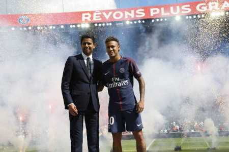 Neymar - Nasser Al-Khelaifi - Paris Saint-Germain - Foto: Paris Saint-Germain