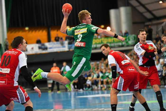 Franz Semper - SC DHfK Leipzig vs. TuS N-Lübbecke - Handball Bundesliga - Foto: Rainer Justen