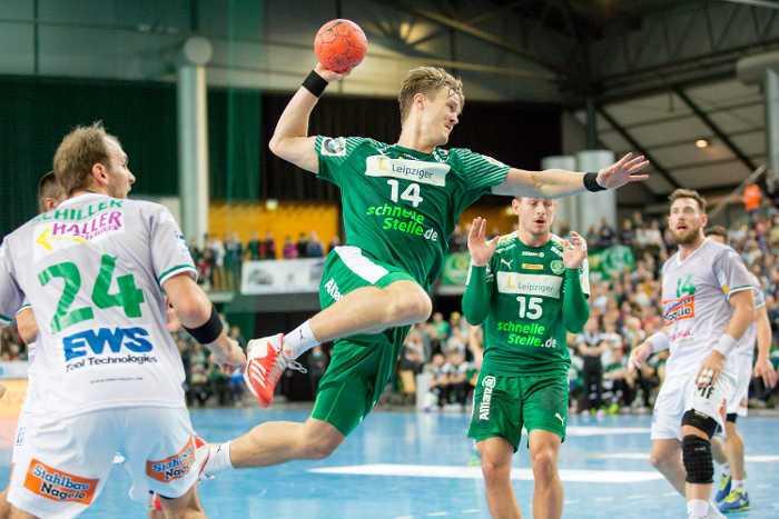 Niclas Pieczkowski - SC DHfK Leipzig vs. Frisch Auf Göppingen - Handball Bundesliga - Foto: Karsten Mann