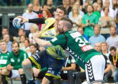 Andy Schmid und Alen Milosevic - SC DHfK Leipzig vs. Rhein-Neckar Löwen - Handball Bundesliga - Foto: Karsten Mann
