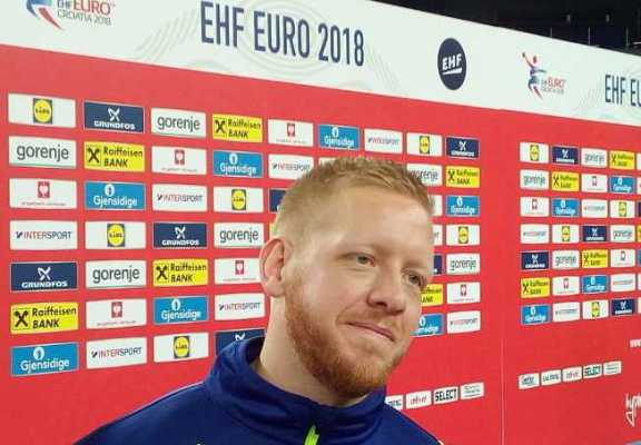 Handball EM 2018 - Jim Gottfridsson - Schweden - Media Call am 27.01.2018 in Arena Zagreb - Foto: SPORT4FINAL