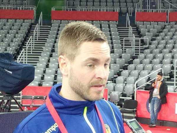 Handball EM 2018 - Andreas Palicka - Schweden - Media Call am 25.01.2018 in Arena Zagreb - Foto: SPORT4FINAL
