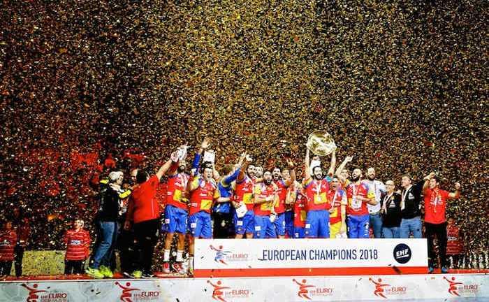 Handball EM 2018 - Spanien Titelgewinner - EHF EURO - Finale - Arena Zagreb - Foto: Joachim Schütz