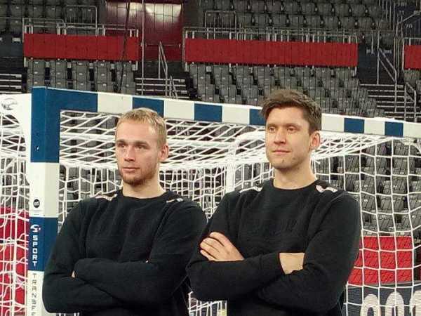 Handball EM 2018 - Rene Toft Hansen, Niklas Landin - Dänemark - Medientag Arena Zagreb - Foto: SPORT4FINAL