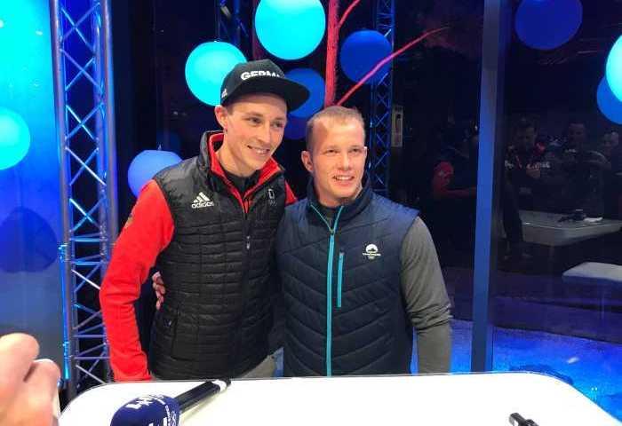 Eric Frenzel - Fabian Hambüchen - Olympia PyeongChang 2018 - Foto Copyright: Eurosport