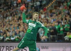 Philipp Weber - SC DHfK Leipzig vs. SC Magdeburg - Handball Bundesliga am 17.02.2018 - Arena Leipzig - Foto: Rainer Justen