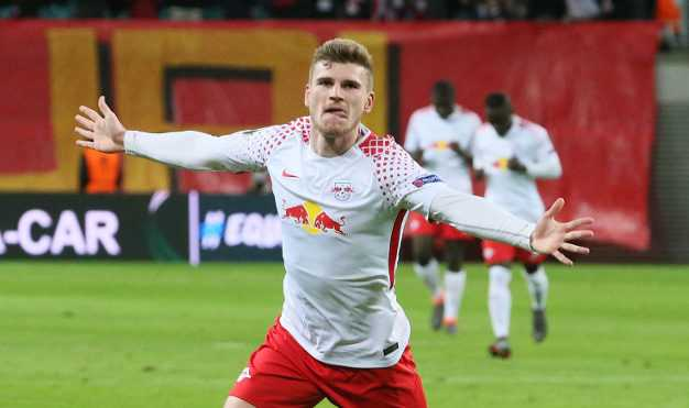 Fußball UEFA Europa League, RasenBallsport Leipzig vs. Olympique Marseille - Timo Werner (RB Leipzig) - Foto: GEPA pictures/Sven Sonntag