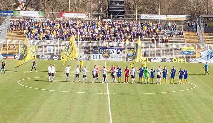 1. FC Lok Leipzig vs. FSV Budissa Bautzen, Fußball Regionalliga, 08.04.2018, Bruno-Plache-Stadion - Foto: SPORT4FINAL