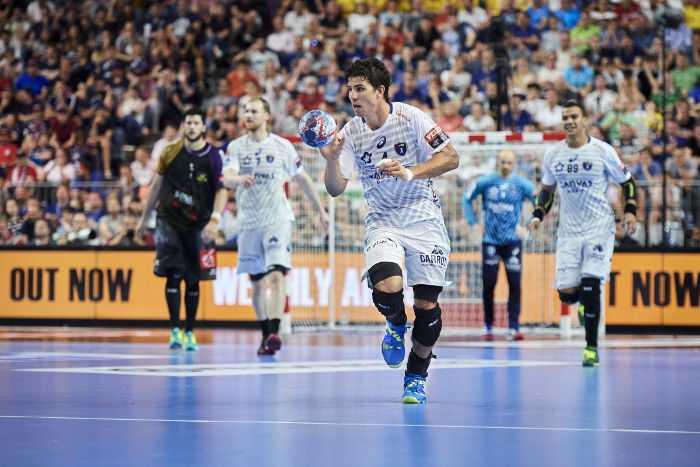 Diego Simonet MVP EHF Final4. VELUX EHF FINAL4 2018 LANXESS arena, Cologne, Germany HBC Nantes vs Montpellier HB © 2018 EHF / Axel Heimken, Hocevar, Lämmerhirt, Stadler
