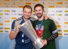 Paul Drux - Fabian Wiede - Füchse Berlin - EHF Cup Pokal - Foto: SPORT4FINAL