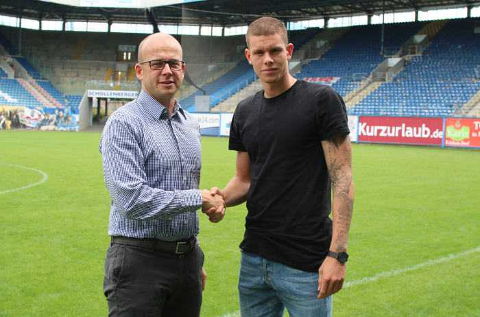 FC Hansa Rostock - Markus Thiele und Max Reinthaler (li.) - Fußball - Dritte Liga - Foto: FC Hansa Rostock