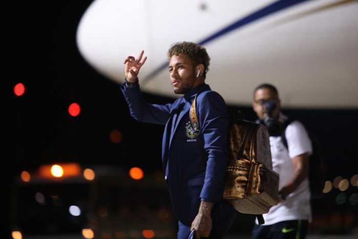 Fußball WM 2018 Russland: Neymar - Brasilien - Ankunft in Sotchi am 11. Juni 2018 – Foto: FIFA