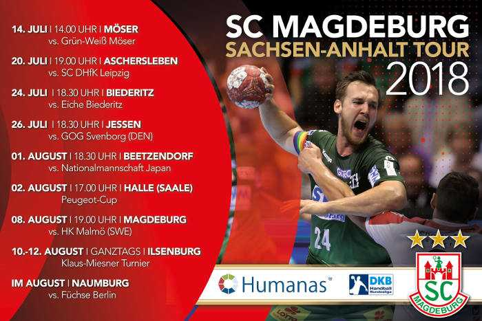 SC Magdeburg - Tour Sachsen-Anhalt 2018 - Handball Bundesliga - Foto: SC Magdeburg