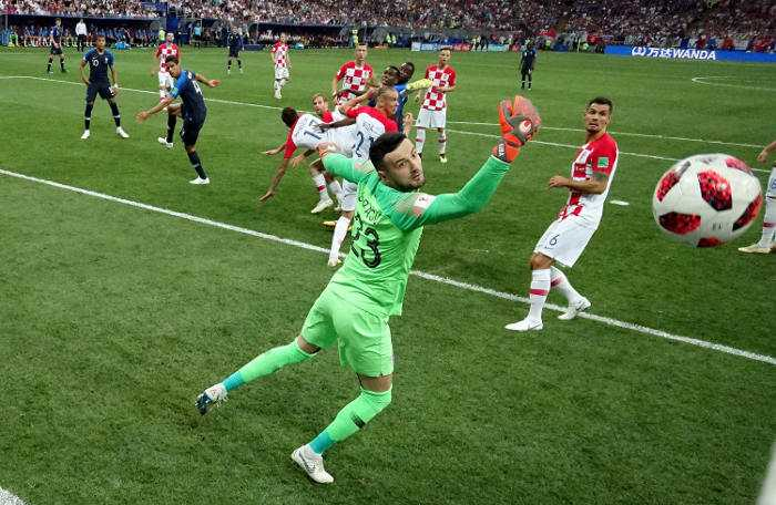 Fußball WM 2018: During the 2018 FIFA World Cup Final between France and Croatia at Luzhniki Stadium on July 15, 2018 in Moscow, Russia. Foto: FIFA über Getty Images
