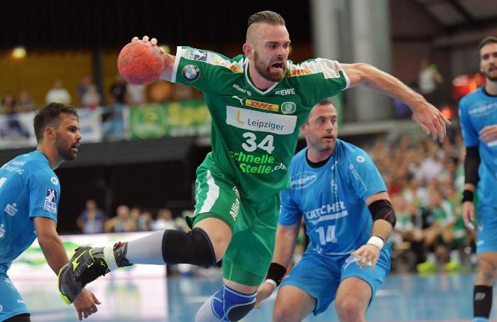 Alen Milosevic - SC DHfK Leipzig - Handball Bundesliga - Schweiz - Foto: Rainer Justen