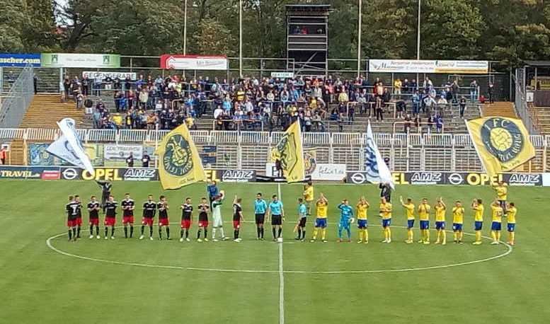 1. FC Lok Leipzig vs. Germania Halberstadt - Fußball Regionalliga - Bruno-Plache-Stadion am 22.09.2018 - Foto: SPORT4FINAL