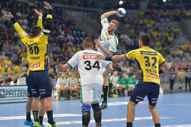 Philipp Weber - Rhein-Neckar Löwen vs. SC DHfK Leipzig - Handball Bundesliga - Mannheim 16.09.2018 - Foto: Rainer Justen